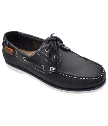 Zapatos Azul Bote Casual Wrangler Marino Cuero Cubierto Piel Zapato Océano De aqxqw47HR