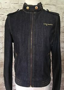 G-by-Guess-Women-s-Denim-Moto-Jacket-Size-Small