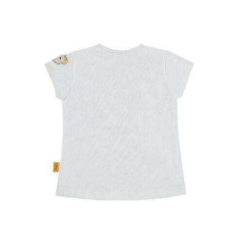 Steiff T-shirt Sporty Girl Blanc avec Marine NEUF 68 74 80 86 92 98 Réduit/%/%