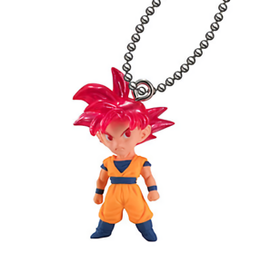 Dragon Ball Super UDM Burst 38 SS3 Son Goku Capsule Gacha Swing Key Chain Mascot