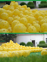 Yellow 100pcs Plastic Practice Balls Golf Wiffle Balls Air Flow Ball