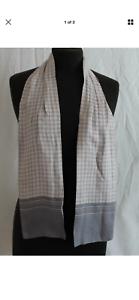 Gents Vintage Soie Véritable Cravat. Gris Clair Vérifié Goodwood Mod, Mariage-afficher Le Titre D'origine Les Consommateurs D'Abord