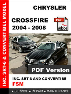 chrysler crossfire 2004 2005 2006 2007 2008 service repair workshop rh ebay com Chrysler Manuals PDF Chrysler Manuals PDF