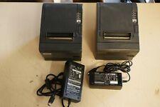 Lot 2x Epson Tm T88iiip Pos Thermal Receipt Printer Parallel M129c