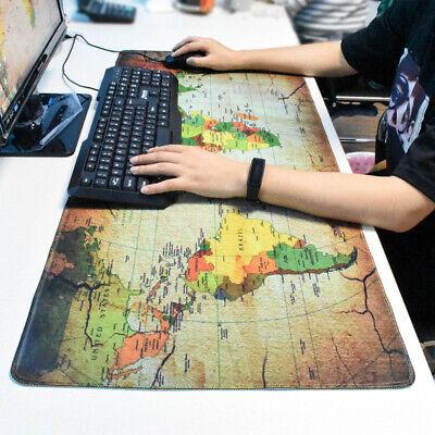 Anti-slip World Map Pattern Mouse Pad Laptop Computer Mice Mat Desk Keyboard Mat