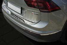 2015+ VW Tiguan II - Stainless Steel Rear Bumper Protector Guard