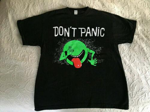 New Vg HITCHHIKER/'S GUIDE TO THE GALAXY DON/'T PANIC t shirt Gildan Reprint