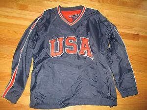 Steve & Barry USA Embroidered V-Neck Nylon (SM) Jacket