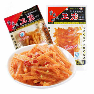 30bags X 18g Authentic Weilong Chinese Specialty Spicy Snack Food Gluten 卫龙辣条