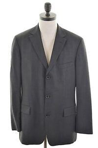 6a5542ef HUGO BOSS Mens 3 Button Blazer Jacket Size 42 Large Black Wool | eBay