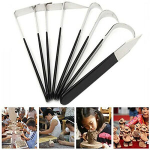 8PCS-Pottery-Wax-Clay-Carvers-kit-Carving-Sculpture-Stainless-Steel-Hand-Tools