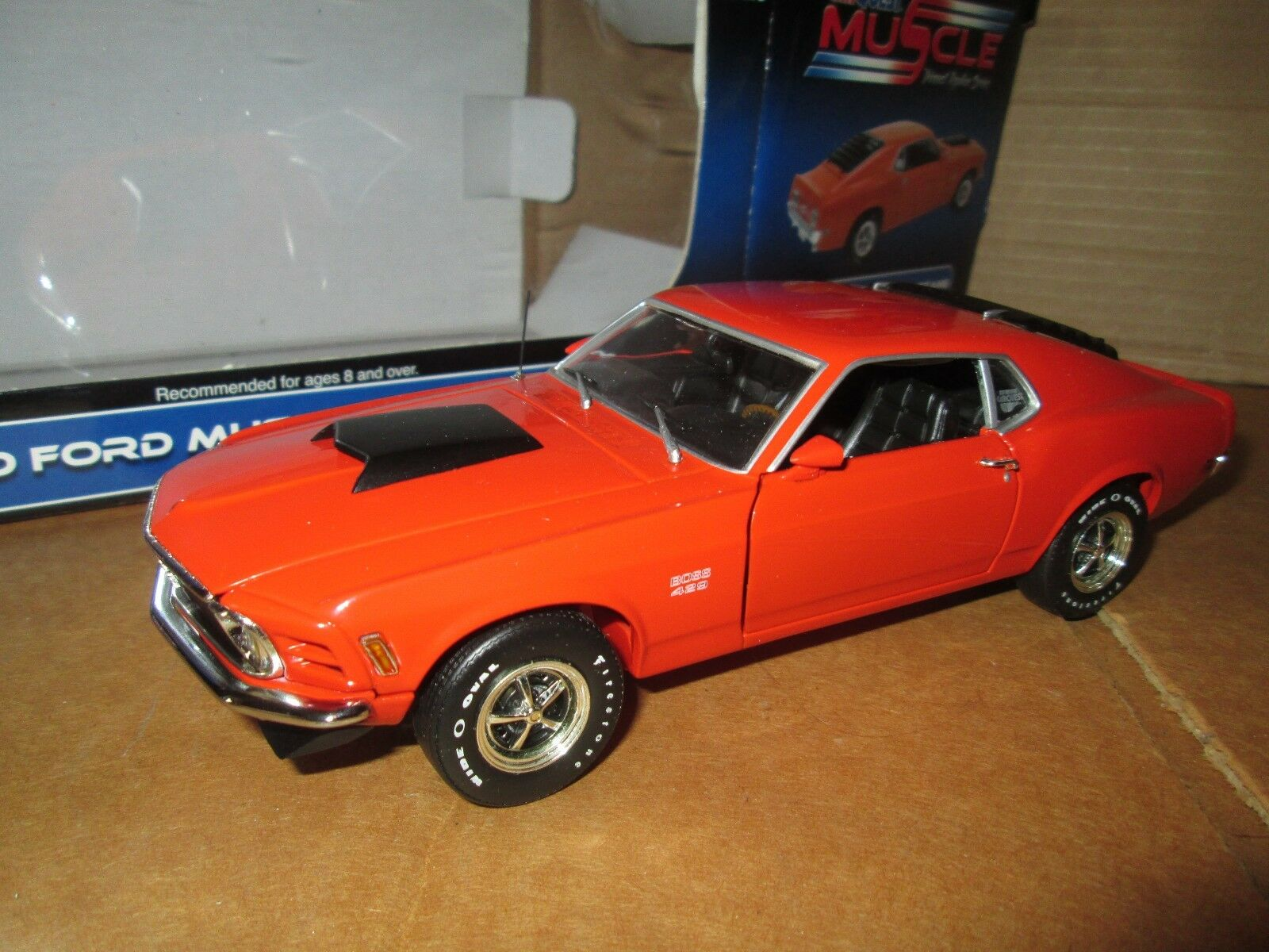1970 Mustang Ford Rivete 429 arancia First Gear Coche Quest Auto Partes 1 25
