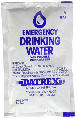 Emergency Water Pouches Disaster Survival Preparedness 64 Pcs 125 ml Each NEW