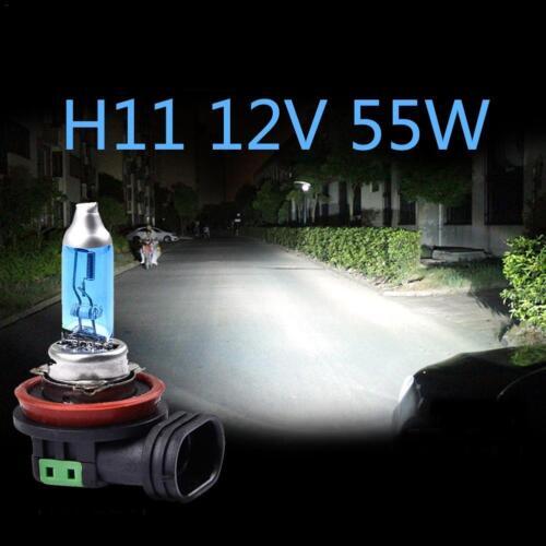 2* H11 55W//100W 12V Halogen Bulb Headlights Foglight Bulbs Glass Pair Headlamp