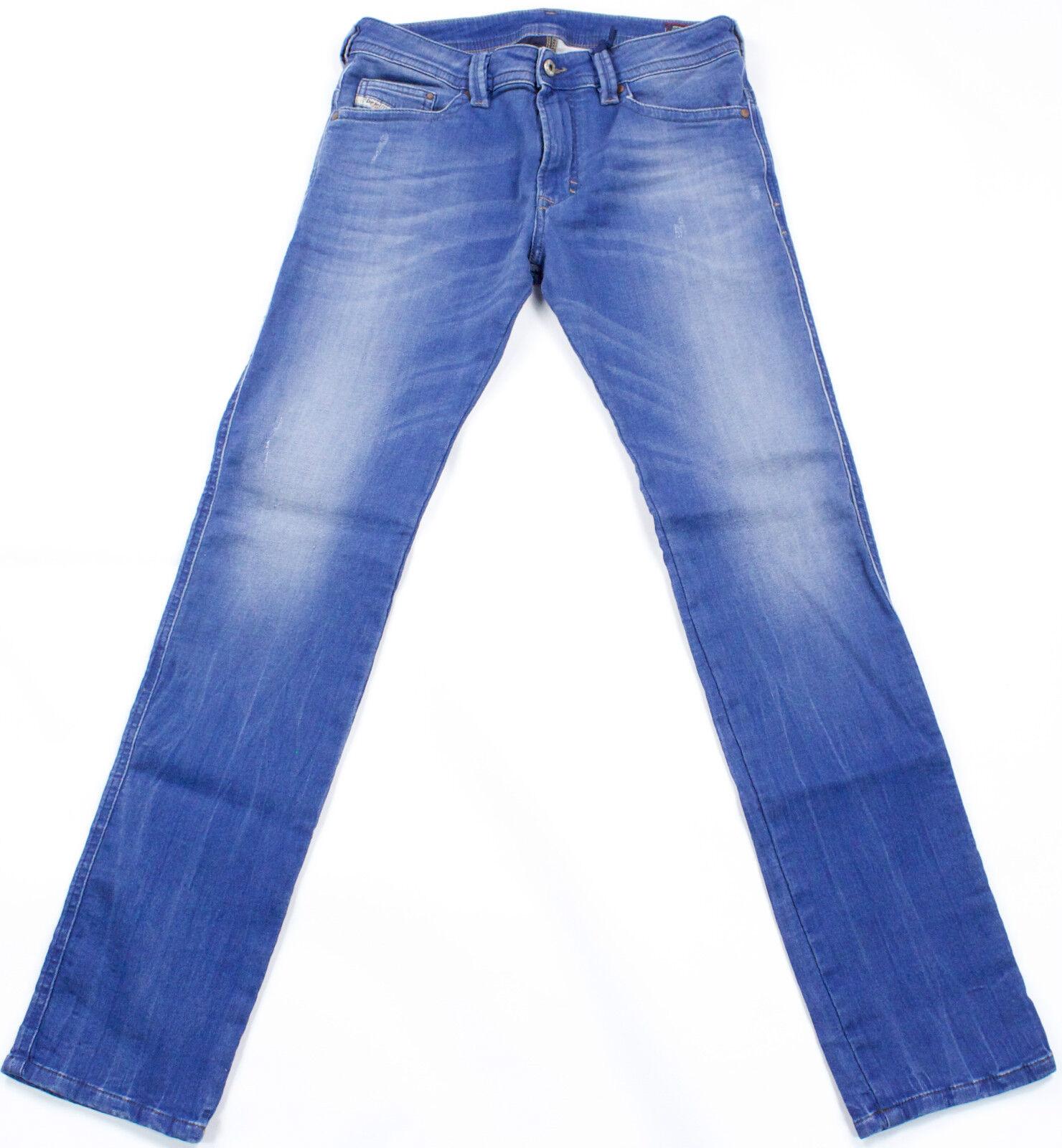 DIESEL Nuovo di Zecca THAVAR-NE 0837 T Fast Jeans 28X30 100% Autentico SLIM FIT