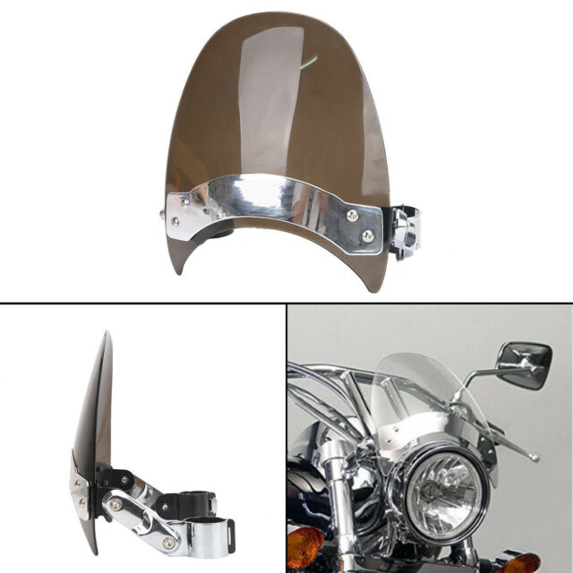 Windscreen Windshield For Harley  Dyna Softail Sportster Road King 39-41mm Clamp