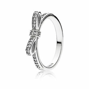 5f33c9890 NEW! Authentic Pandora Sparkling Bow Clear CZ Ring #190906CZ-56 (7.5 ...