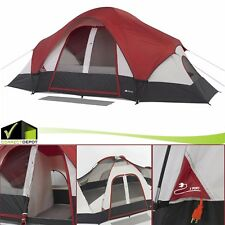 8 Person Ozark Trail Instant Cabin 2 Room Family Tent C&ing Outdoor Dome  sc 1 st  eBay & Ozark Trail Tent 8 Person 2 RM 13x9 Instant Family Cabin Outdoor ...