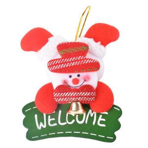 1x-ornamenti-appeso-piatto-Albero-di-Natale-Porta-decorazione-13x11cm-ross-D5B1