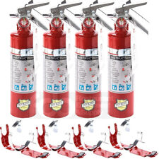 4x 25 Lb Fire Extinguisher Abc Dry Chemical Rechargeable Dot Vehicle Bracket Ul
