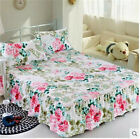 Home Single Queen King Bed FITTED SHEET ONLY Polyester Fiber TauL Floral hw
