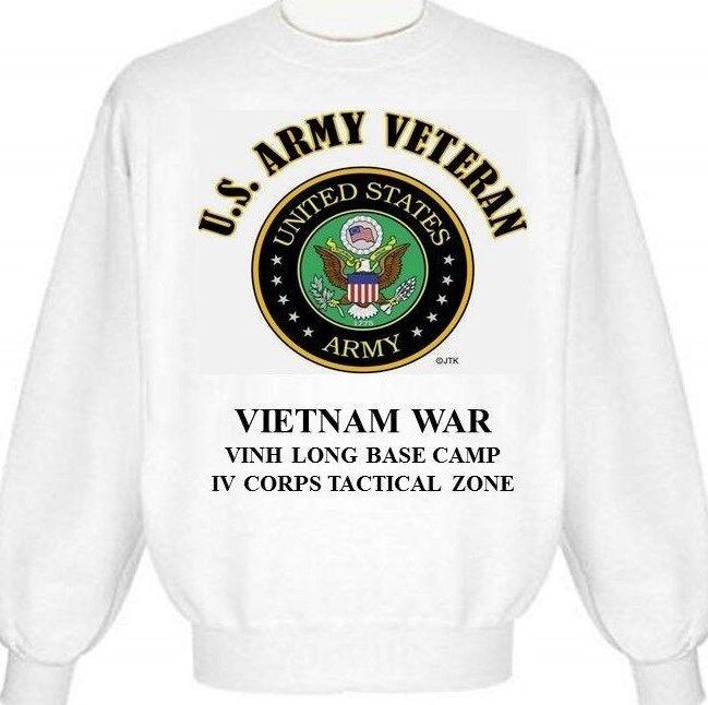 VIETNAM WAR  VINH LONG BASE CAMP  IV TACTICAL ZONE ARMY EMBLEM SWEATSHIRT