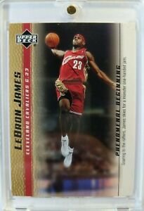2003-03-04-Upper-Deck-Phenomenal-Beginning-Gold-LeBron-James-Rookie-RC-5-Cavs