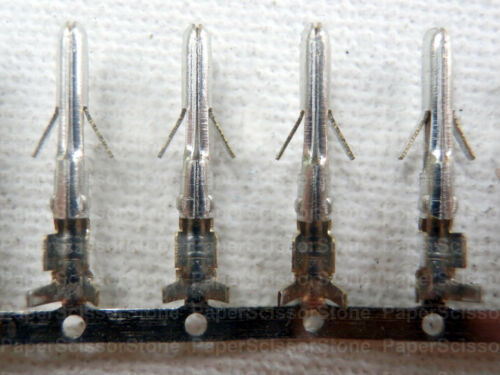 100Pcs HDD Molex Harddrive Plug Connector Metal Contact Male Pin Crimp Terminal
