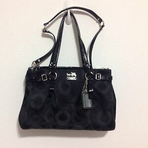 how to clean a non leather coach purse
