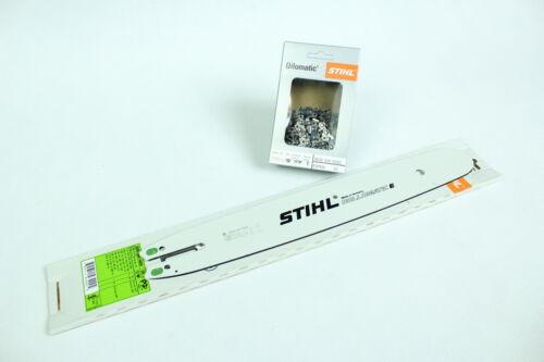 """Original Stihl Schwert  35cm 1,3 3//8/"""" mit 2x Kette PM3 passend für MS211 231 251"""
