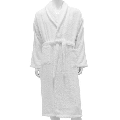 Hotel and Spa Edition Bath Robe Shawl Collar White 100/% Cotton Terry Bathrobe