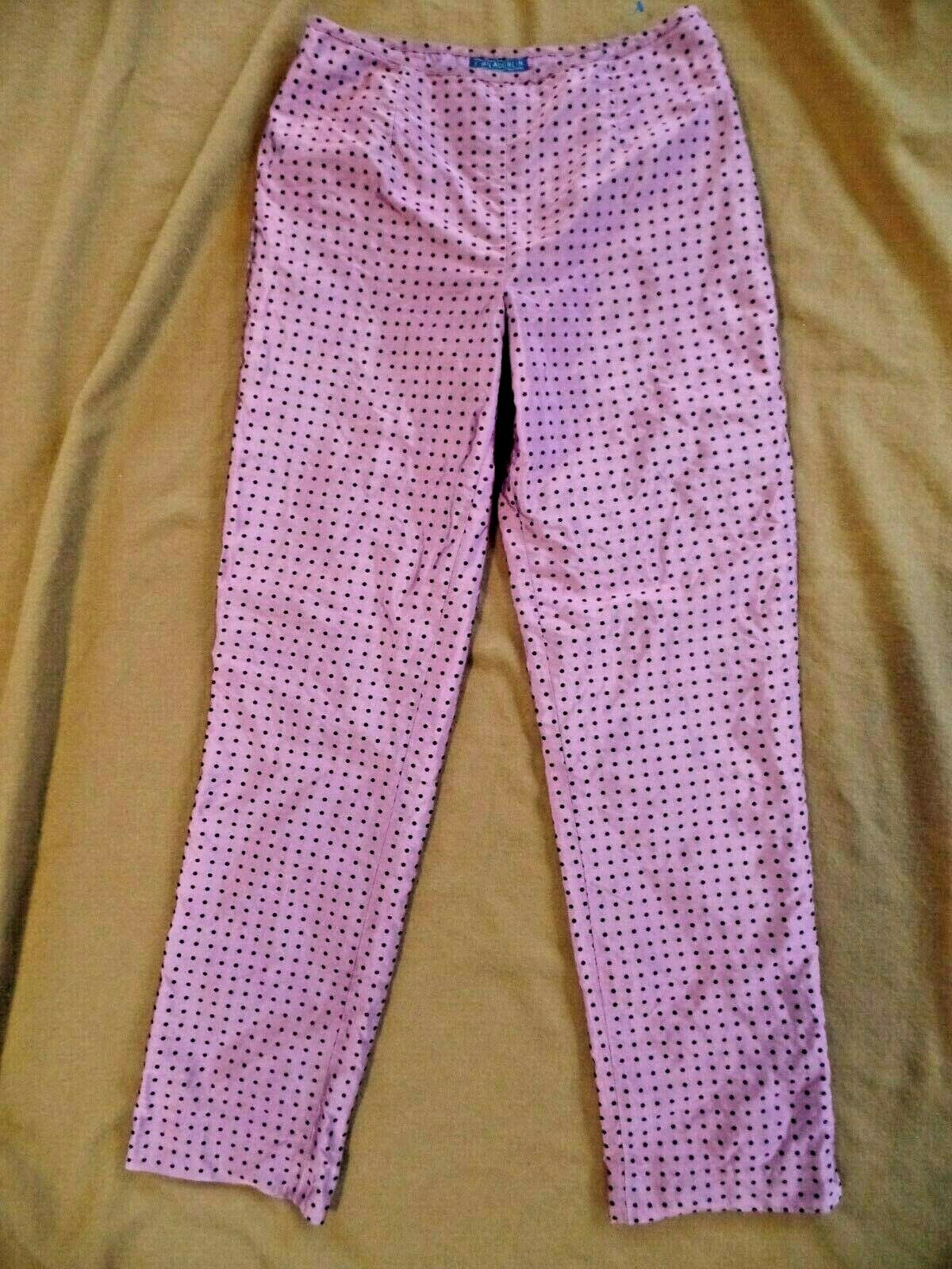 J. McLaughlin Soie Violet Robe à pois  PYJAMA  Style Pantalon Taille 6