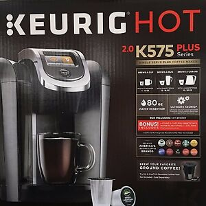 What Coffee Maker Brews The Hottest Cup Of Coffee : Keurig Hot 2.0 K575 Plus K-Cup Machine Coffee Maker Brewer BRAND NEW 2016 eBay