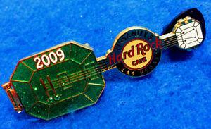 Las-Vegas-Pinsanity-Mago-di-oz-Verde-Smeraldo-Chitarra-2009-Rigida-Rock-Cafe-Pin