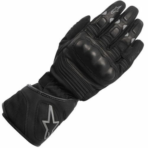 10% OFF Alpinestars VEGA Drystar Black Leather Motorcycle Winter Gloves S-3XL