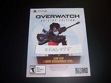Overwatch Widowmaker Preorder Noire Legendary Skin DLC Card PlayStation 4 PS4