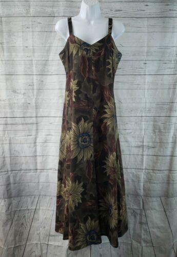Bonnie Strauss Womens Dress Sz 8 Brown Floral Line