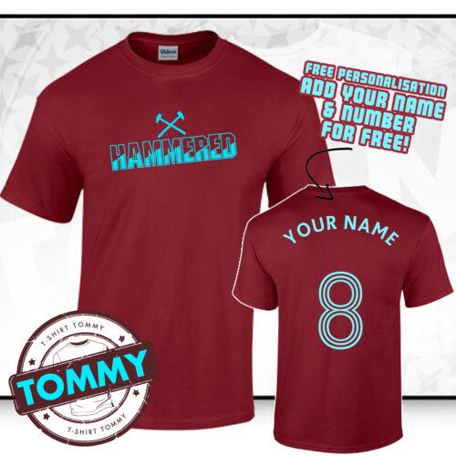 WHU West Ham United Hammers Printed T Shirt
