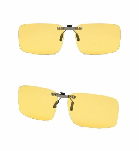 Driving Clip-on Sunglasses UV Polarized Transition Photochromic Shades Outdoor