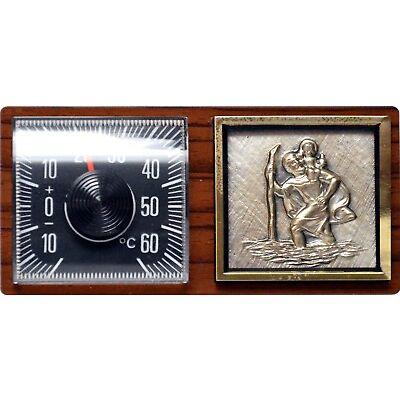 Original 1962 Thermometer mit Christophorus von RICHTER mit Halter HR Art. 10211