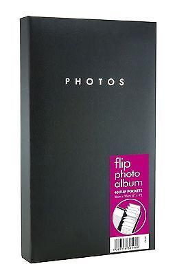 1 X Schwarz Flip Fotoalbum 16cm X 26cm Hält 80 X 15.2cm X 10.2cm Familie Fotos
