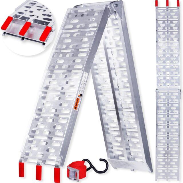Masko® Alu rampa di carico rampa antiscivolo moto alluminio pieghevole 340 KG
