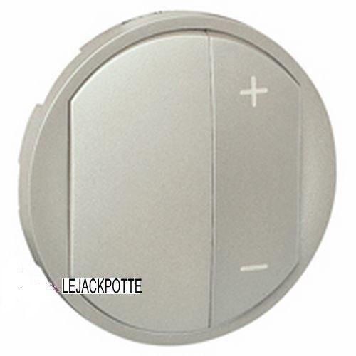 Enjoliveur Manette Variateur 300//400 et 600W Legrand Céliane Titane 68331
