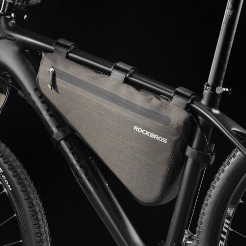 RockBros Imperméable Sac Triangle 5 L Capacité Cyclisme Tube frame bag Black Gold