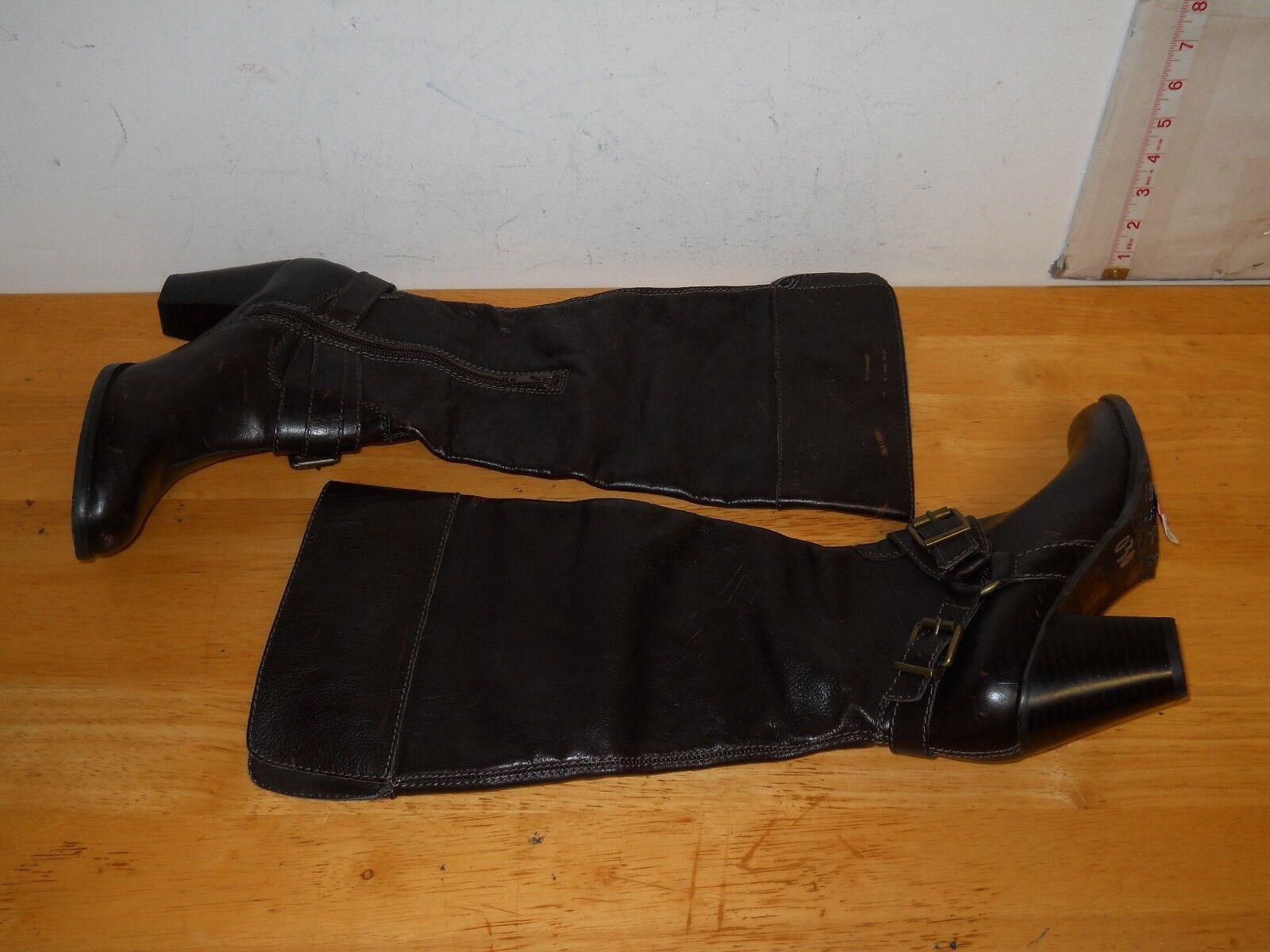 Arturo Chiang New Damenschuhe AT Vala Distressed Dark Braun Stiefel 6.5 M Schuhes NWOB