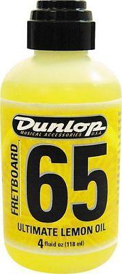Dunlop Fórmula 65 Limón Aceite Guitarra Diapasón Acondicionador/Limpiador 118ml