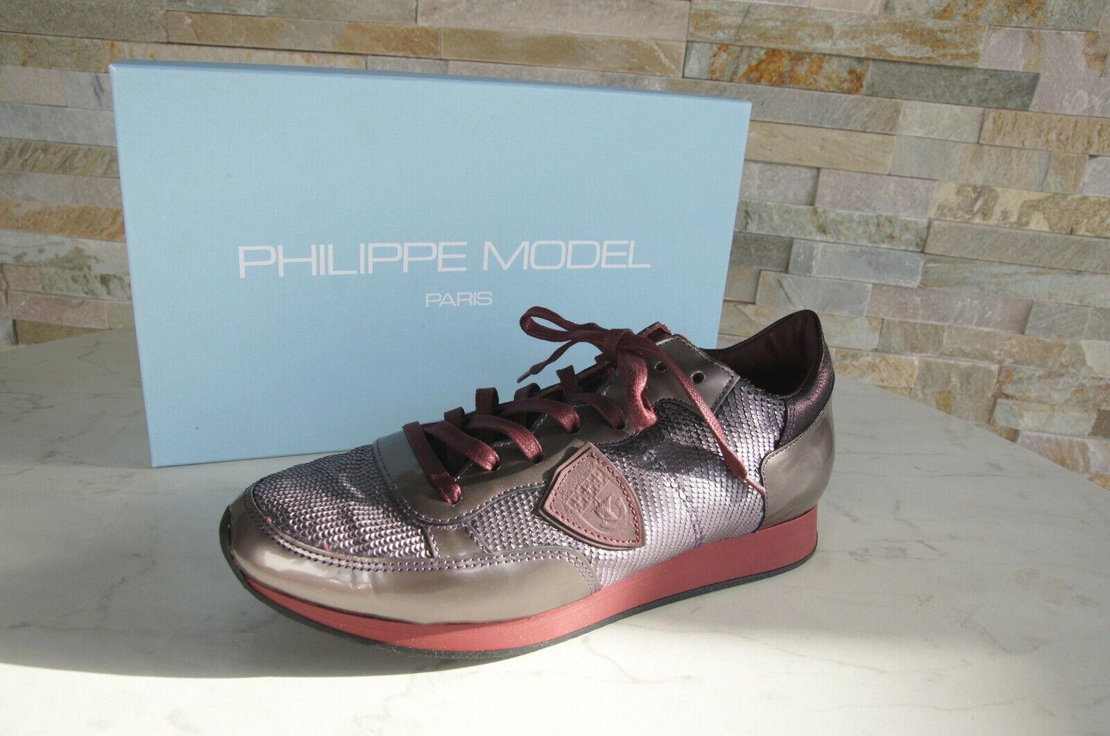 Philippe Model paris T 39 Baskets trld yx05 Chaussures prune neuf ancien Prix Recommandé