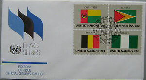UN Flag FDC Herzstück 82 Belgien Cape Verde Nigeria Guy - Deutschland - UN Flag FDC Herzstück 82 Belgien Cape Verde Nigeria Guy - Deutschland