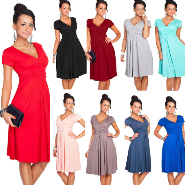Women Summer Deep V Neck Club Party Cocktail Office Business Wear To Work Dress