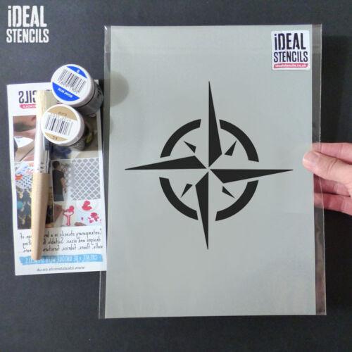 Nautical Star Stencil Compass Star Symbol Decor Painting Wall Fabric Furniture
